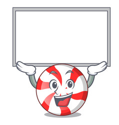 Up board peppermint candy character cartoon vector