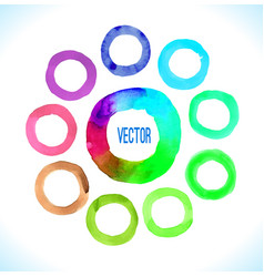 Watercolor circles frame vector