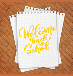 welcome back to school handdrawn lettering vector image