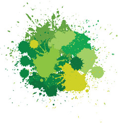 blots in green tones vector image