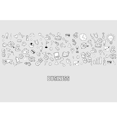 Business doodles objects background vector image vector image