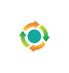 circle spinning arrows logo vector image