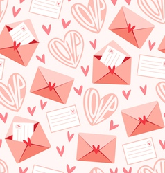 Love letters pattern vector image vector image