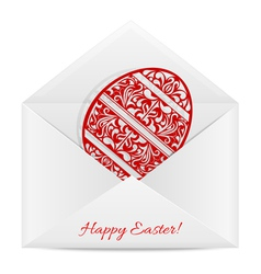 Paper envelope with a symbol of Easter vector image