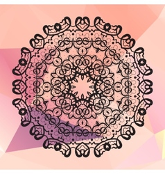 Round mandala Geometric circle element made in vector image