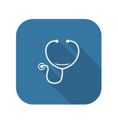 stethoscope and medical services icon vector image