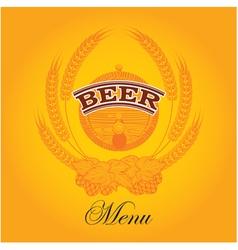 beer menu mug vector image