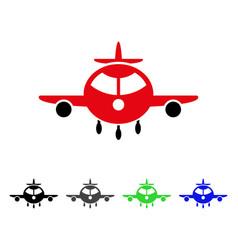 Cargo plane flat icon vector