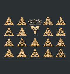 celtic trinity knot 18 items ethnic ornament vector image