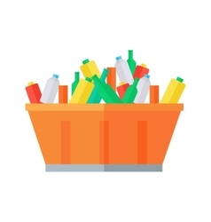 Container with garbage vector