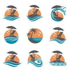 emblems set of summer vacation vector image vector image