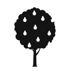 Tree with pears black simple icon vector image