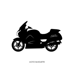 Black silhouette of a police motorcycle vector image