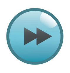 flat black forward button icon vector image