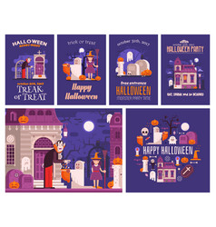halloween backgrounds and cards vector image