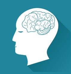 profile head brain health image vector image vector image