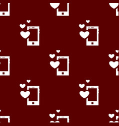 Seamless mobile pattern love symbol from icon vector