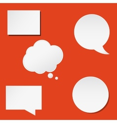 Trendy speech bubbles set in flat design for web vector image