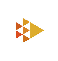 triangles minimal geometry logo design vector image vector image