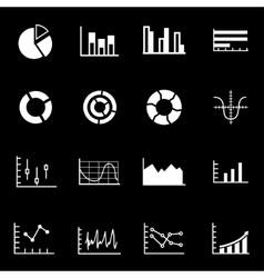 white diagrams icon set vector image