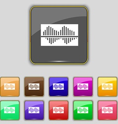 Equalizer icon sign Set with eleven colored vector image