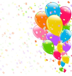flying colorful balloons vector image