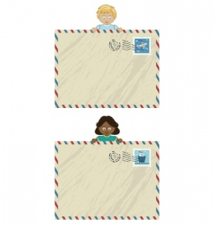 kids airmail vector image vector image