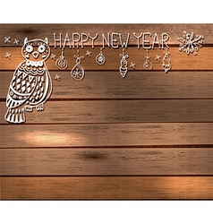 Owl and decorations for beautiful Holiday design vector image