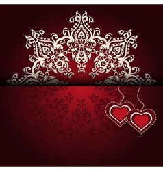 Royal Luxury Valentines Day lace background vector image vector image