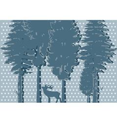 silhouette of deer vector image vector image