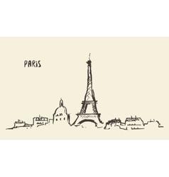Sketch Eiffel Tower Paris vector image
