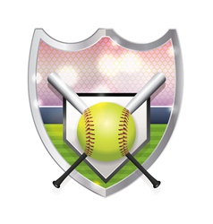 Softball Badge Emblem vector image vector image