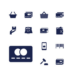 13 commerce icons vector
