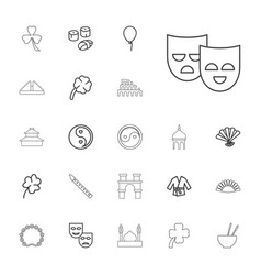 22 culture icons vector