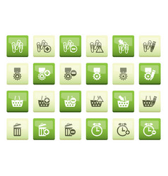 24 business office and website icons vector image