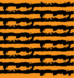 Abstract seamless wavy pattern hand drawn brush vector