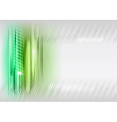 abstract shape green vector image