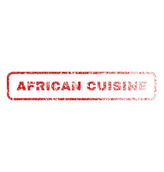 african cuisine rubber stamp vector image