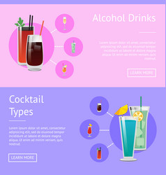 alcohol drinks cocktail types posters bloody mary vector image