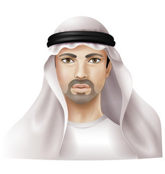 Arab man vector image
