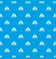 artist tool pattern seamless blue vector image