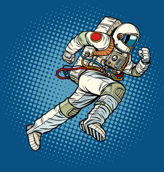 Astronaut runs forward vector