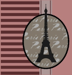 background with eiffel tower vector image