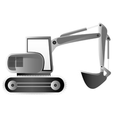 Backhoe machine icon image vector
