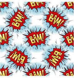 Bam word multicolored comics speech bubbles vector