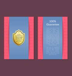best award golden offer premium quality label vector image