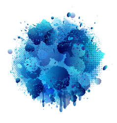 Blue spray paint with abstract splatter color vector
