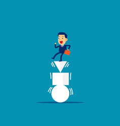 businessman and balanced concept business vector image