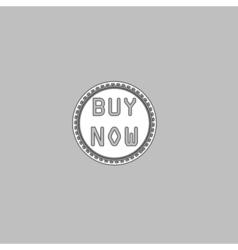 Buy Now computer symbol vector image