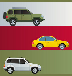 Car auto vehicle banner transport type design vector